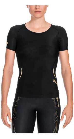 Skins W's A400 Top Short Sleeve Black/Gold